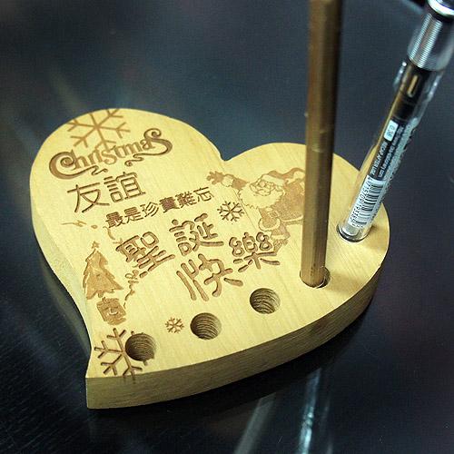 原木筆插 雕刻