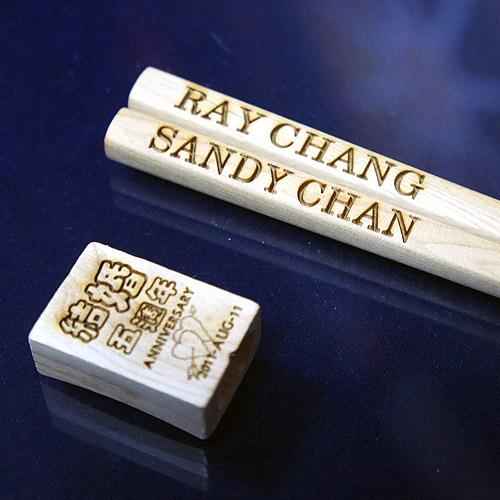 原木環保筷組雕刻