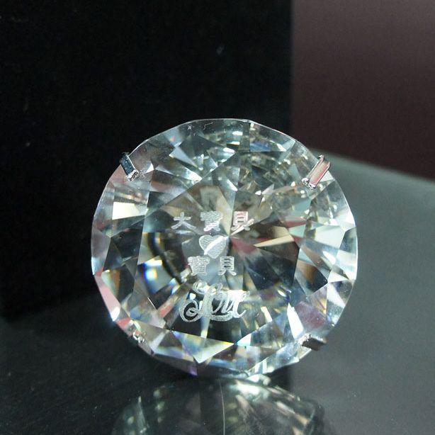 水晶雕刻大鑽戒