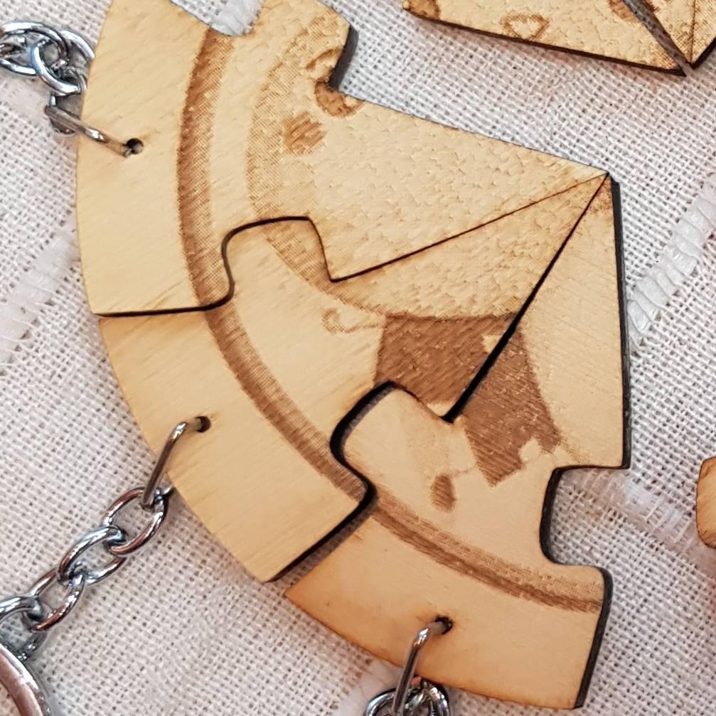 拼圖造型  鑰匙圈