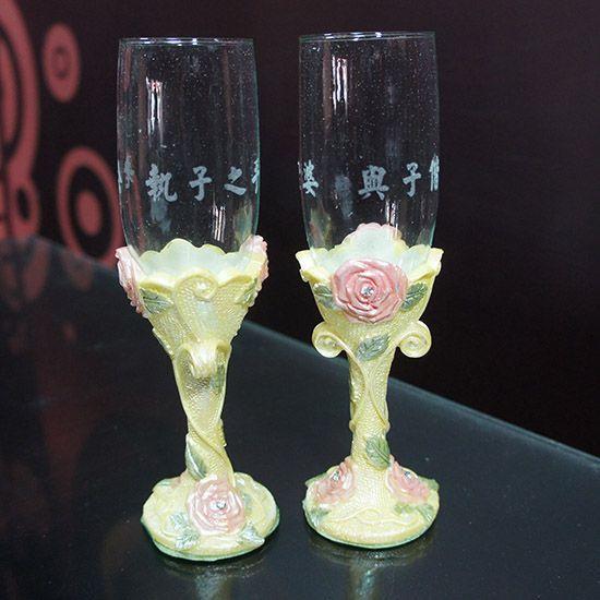 玻璃杯 雕刻