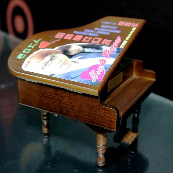 原木音樂盒 雕刻 彩印
