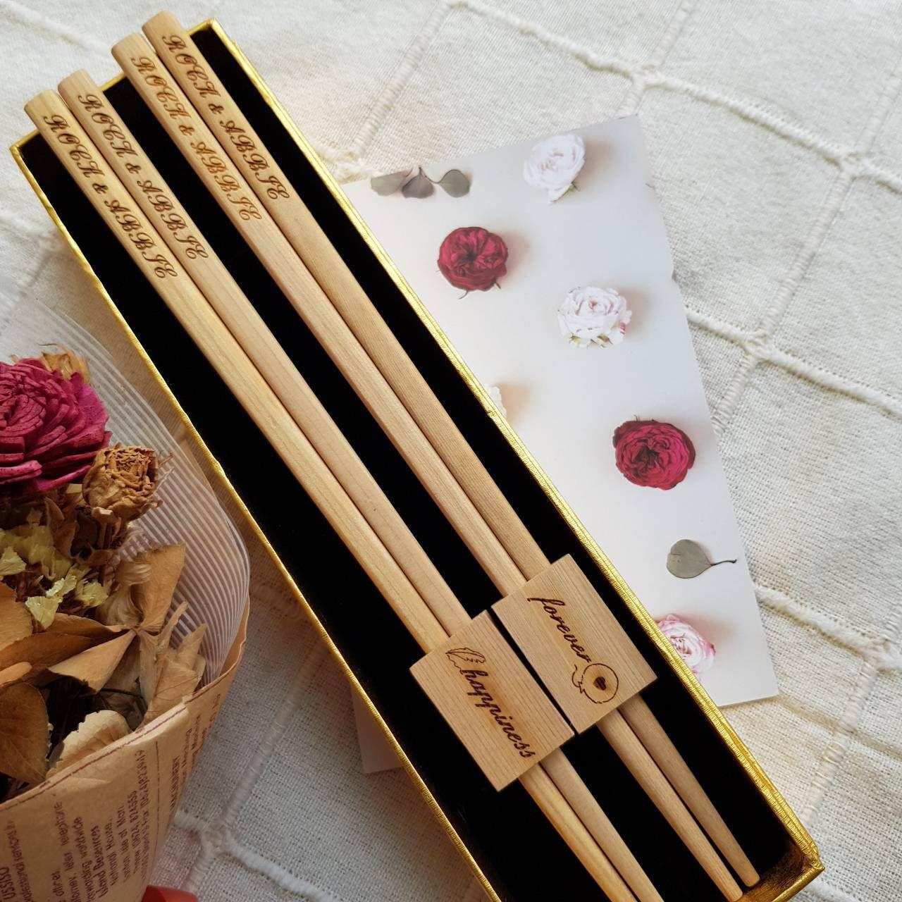 原木環保筷組  雕刻