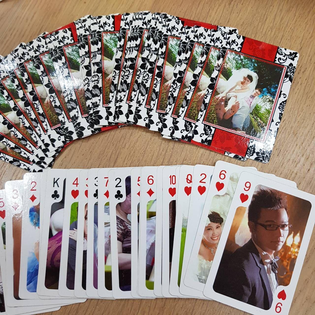 轉印相片撲克牌